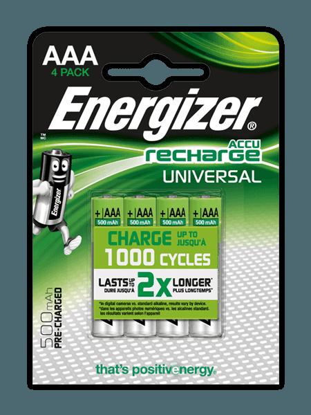 Energizer® Recharge Universal – AAA