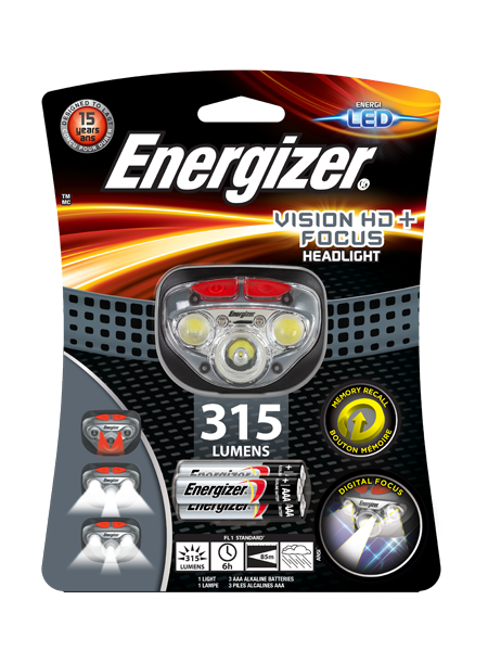 Energizer<sup>®</sup> Vision HD+ Focus headlight
