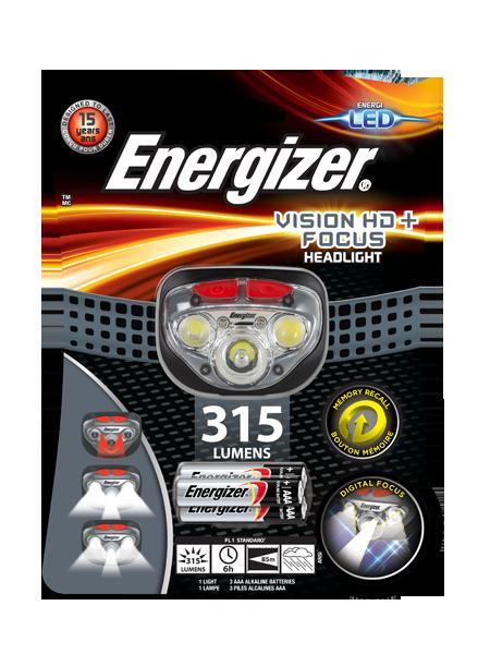 Energizer<sup>®</sup> Vision HD+ Focus headlight