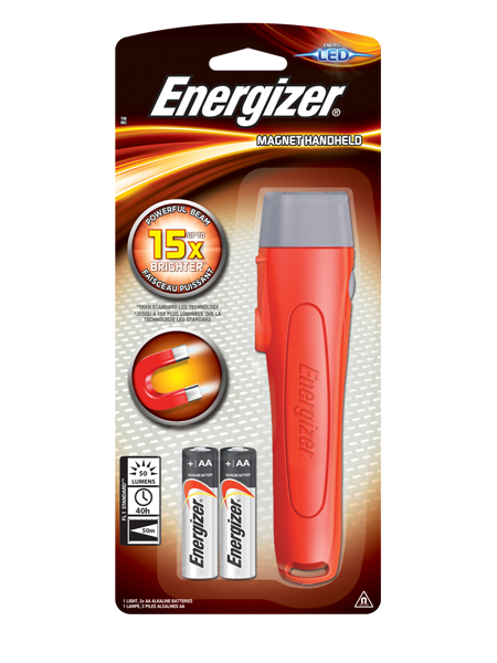 ENERGIZER® 2AA HANDHELD LIGHT WITH MAGNET