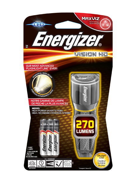ENERGIZER®METAL VISION HD 3AAA