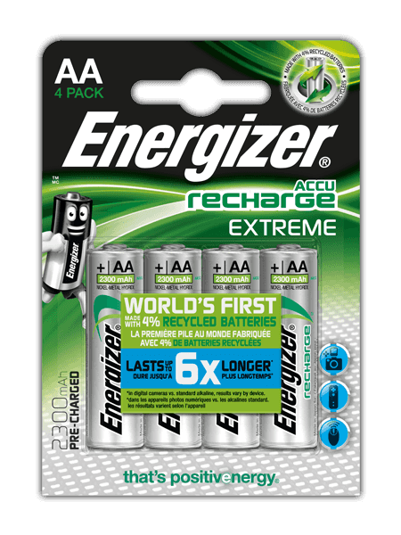 Energizer<sup>&reg;</sup> Recharge Extreme &#8211; AA
