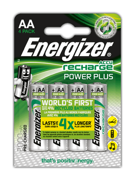Energizer<sup>&reg;</sup> Recharge Power Plus &#8211; AA