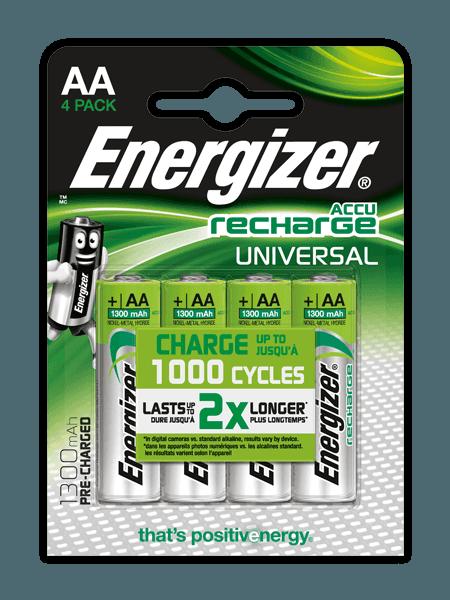 Energizer<sup>&reg;</sup> Recharge Universal &#8211; AA