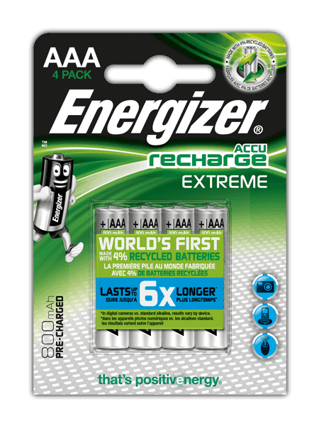 Energizer<sup>&reg;</sup> Recharge Extreme &#8211; AAA