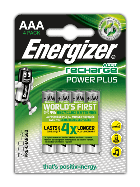 Energizer<sup>®</sup> Recharge Power Plus – AAA
