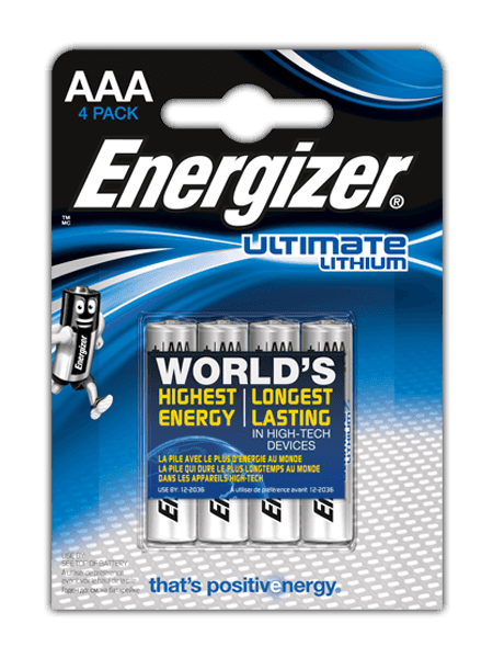 Energizer<sup>®</sup> Ultimate Lithium – AAA
