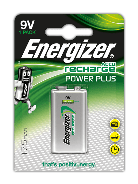 Energizer<sup>&reg;</sup> Recharge Power Plus &#8211; 9V