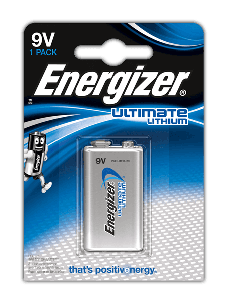 Energizer<sup>®</sup> Ultimate Lithium – 9V